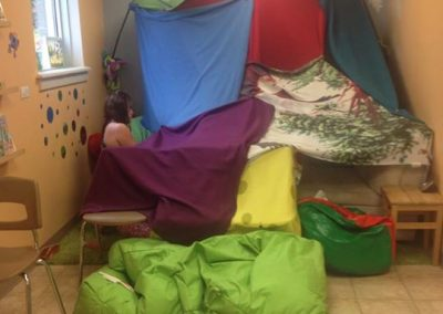 Kids had fun making this fort!!