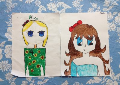 cartoon characters drawing - week3-3